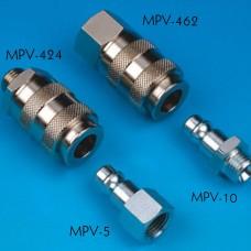 """MPV-424-А, Внутреннее быстросъемное соединение (мама) с наружней резьбой 1/4""""."""