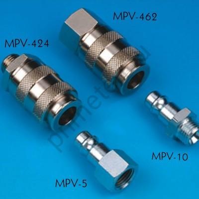 """MPV-462-В, Внутреннее быстросъемное соединение (мама) с внутренней резьбой 1/4""""."""