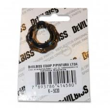 DeVILBISS K-5030, Ремонтный комплект (воздухораспределительное кольцо, прокладка сопла) для краскораспылителя FLG-G5