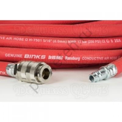 """DeVILBISS H-6085-QD, Шланг возд.длиной 10м, вн.диам. 5/16""""с быстросъемными штуцерами"""