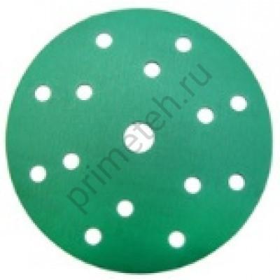 Диски HANKO DC341 Film Green 150мм 15отв. Р180, 220, 240, 280, 320, 400, 500, 600, 800 (100 шт.)
