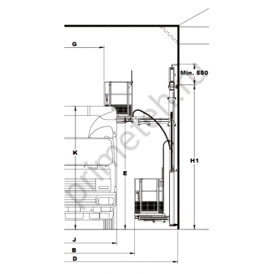 Reglo Wall-Man 1300/100 подъемная платформа с пневмоприводом