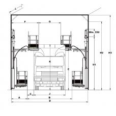 Reglo Wall-Man 1200/100 подъемная платформа с пневмоприводом