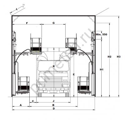 Reglo Wall-Man 500/100 подъемная платформа с пневмоприводом