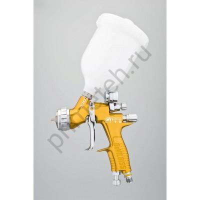 DeVILBISS GTi Pro LITE окрасочный пистолет (краскопульт, краскораспылитель) с верхним бачком и цифровым манометром