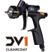 DeVILBISS DV1, окрасочный пистолет (краскопульт, краскораспылитель) пневматический с верхним бачком