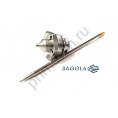 Комплект игла+сопло 1,4 для краскопультов 4600 Xtreme, SAGOLA 10011140